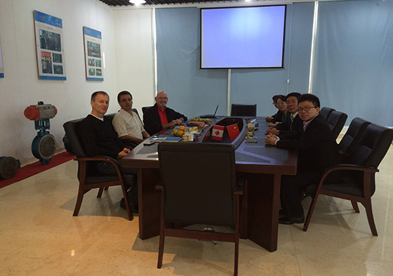 Famous Canada Valve Company CEO Visit Titan Valve Factory for Ball Valve and Gate Valve Production