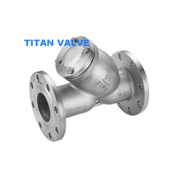 Stainless Steel CF8M Flanged End industrial Y strainer ANSI 150LB