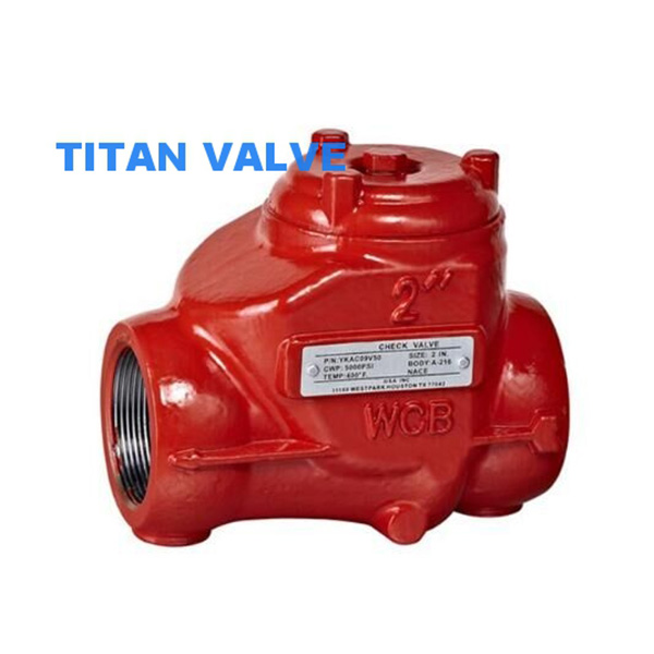 Carbon Steel Threaded oilfield Swing Check Valve 3000psi