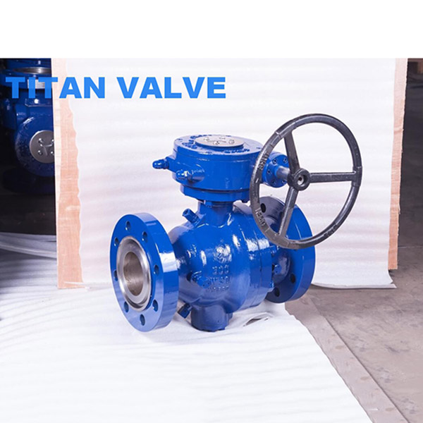 Two Piece WCB Trunnion Mounted Flanged Ball Valve ANSI Class 300LB