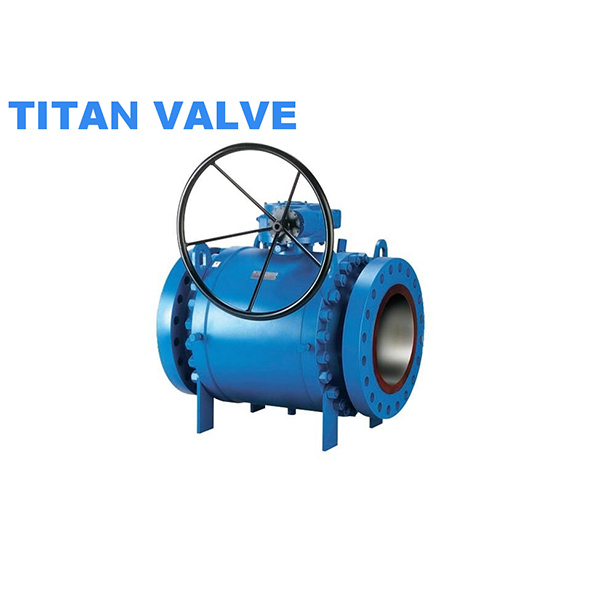API 6D Three Piece Forged Trunnion Mounted flanged Ball Valve