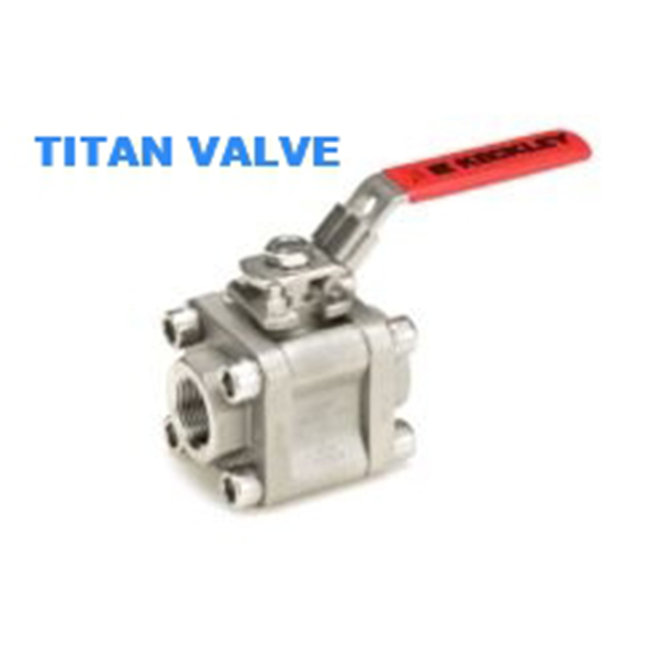 High Performance Three Piece Ball Valve Full Port 2000Psi Class 800LB Stainless Steel