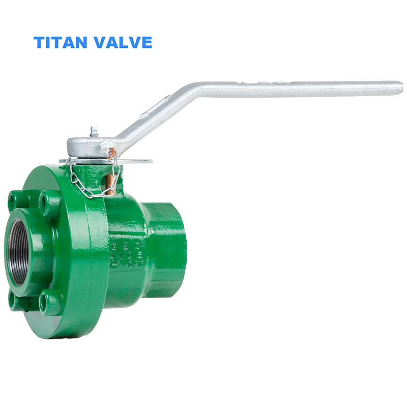 Bolted Body Ductile Iron Oilfield Ball Valve 3000psi