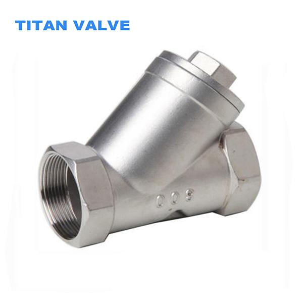 Filtro tipo Y de aço inoxidável CF8 DN25 200WOG